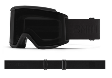 2021 Smith Squad XL Snow Goggle in a Blackout Frame with a ChromaPop Sun Black Lens