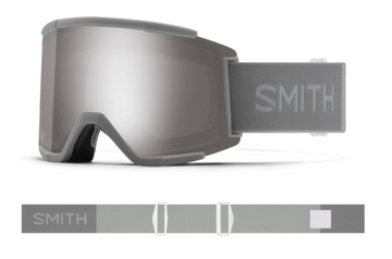 2021 Smith Squad XL Snow Goggle in a Cloudgrey Frame with a ChromaPop Sun Platinum Mirror Lens