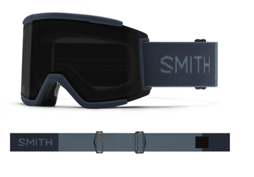 2021 Smith Squad XL Snow Goggle in a French Navy Frame with a ChromaPop Sun Black Lens
