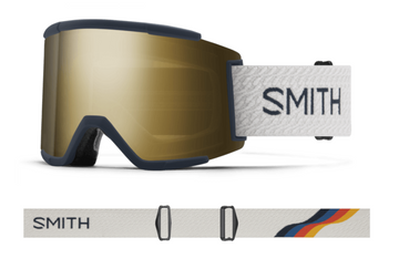 2021 Smith Squad XL Snow Goggle in a French Navy Mod Frame with a ChromaPop Sun Black Gold Mirror Lens