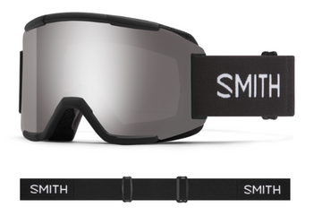 2021 Smith Squad Snow Goggle in a Black Frame with a ChromaPop Sun Platinum Mirror Lens