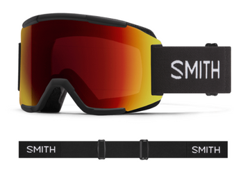 2021 Smith Squad Snow Goggle in a Black Frame with a ChromaPop Sun Red Mirror Lens