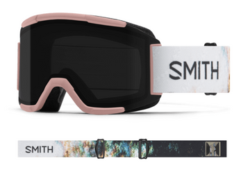 2021 Smith Squad Snow Goggle in a Desiree Melancon Frame with a ChromaPop Sun Black Lens