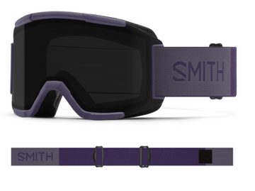 2021 Smith Squad Snow Goggle in a Violet Frame with a ChromaPop Sun Black Lens