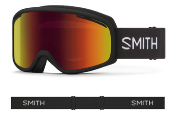 2021 Smith Vogue Snow Goggle in a Black Frame with a Red Sol-X Mirror Lens