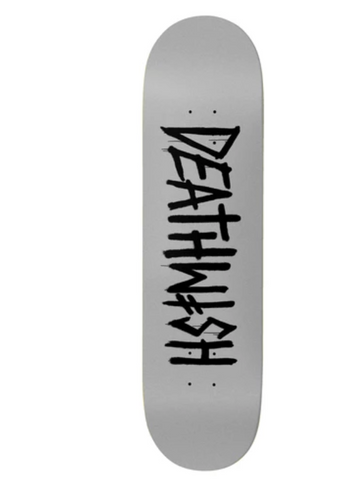 Deathwish Death Tag Grey Pearl Deck in 7.875