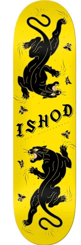 Real Ishod Cat Scratch Skate Deck in Yellow in 8.0''