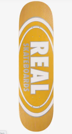 Real Oval Pearl Patterns Slick Skateboard in 8.25''