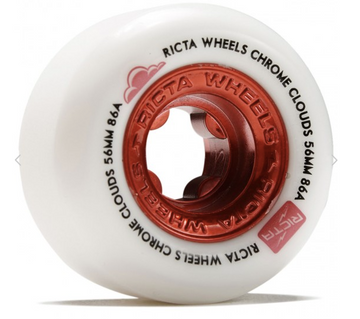 Ricta Chrome Clouds Red in 86A Skate Wheels