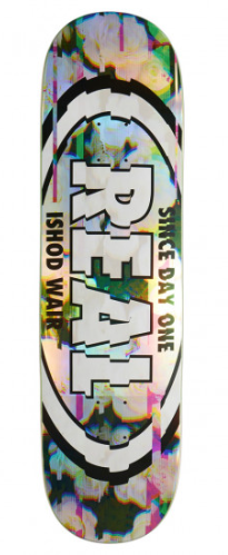 Real Ishod Glitch Oval Skateboard Deck in 8.5''