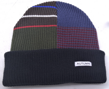 2021 Autumn Patchwork Select Beanie in Black
