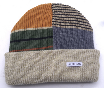 2021 Autumn Patchwork Select Beanie in Oatmeal