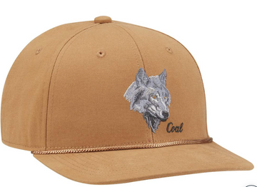2021 Coal The Wilderness Low Profile Cotton Animal Snapback Cap in Light Brown