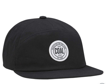 2021 Coal The Will 7-Panel Strapback Cap in Black