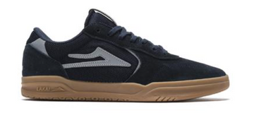 Lakai Atlantic Skate Shoe in Navy Suede and Gum Sole