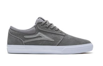 Lakai Griffin Skate Shoe in Grey Suede