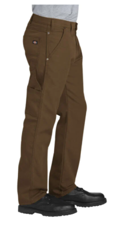 Dickies FLEX Regular Fit Straight-Leg Tough Max Stonewashed Timber Brown Carpenter Pants