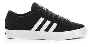 Adidas Matchcourt Skate Shoe in Black White and Black