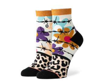 Stance Flower Power Sock in Off White