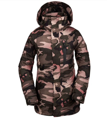 2020 Volcom Womens Eva Insulated Snow Jacket in Faded Army Green