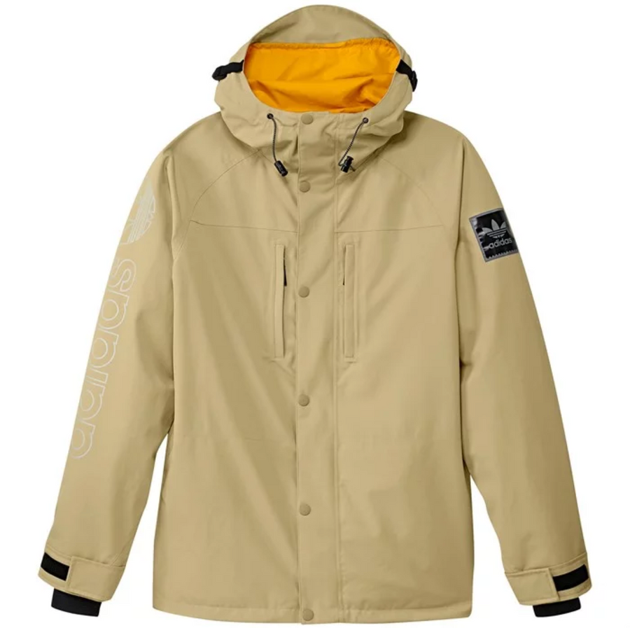 2020 Adidas Utility Jacket in Sand and Collegiate Gold