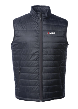 Milosport Hyper Puff Insulator Vest in Black