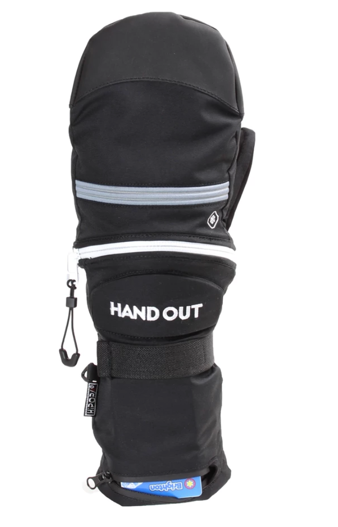 2020 Hand Out Sport Mittens Black/Grey