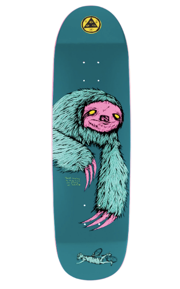 Welcome Sloth on Anthem Skate Deck in 8.8