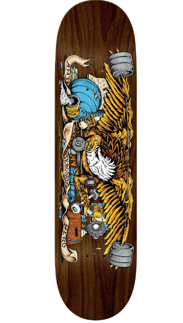 Antihero Pumping Feathers  Skateboard in 9''