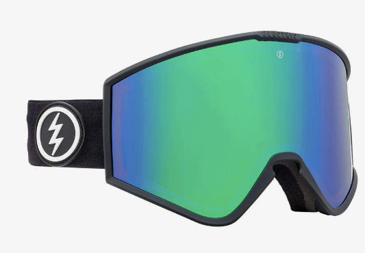 2020 Electric Kleveland Snow Goggle with a Matte Black Frame and Brose Green Chrome Lens