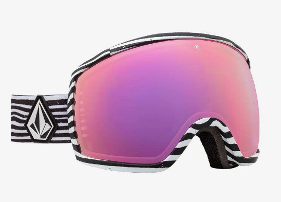 2020 Electric EGG Snow Goggle with a Volcom Frame and Brose Pink Chrome Lens