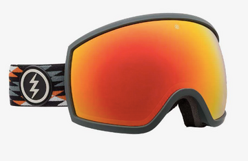 2020 Electric EGG Snow Goggle with a Nuevo Rust Frame and Brose Red Chrome Lens
