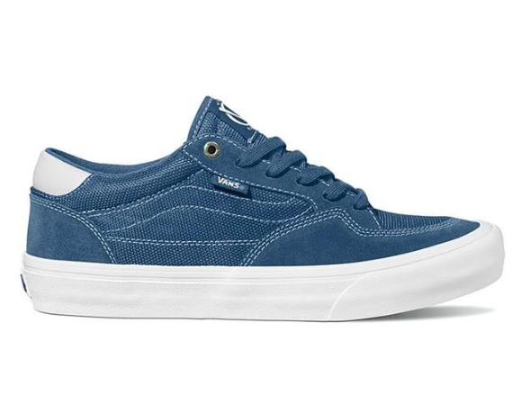 Vans Rowan Pro Skate Shoe in (Mirage) blue and white