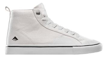 Emerica Omen Hi Skate Shoe in Winkowski White