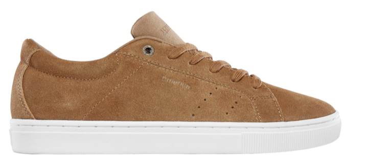 Emerica Americana Skate Shoe in Tan and White
