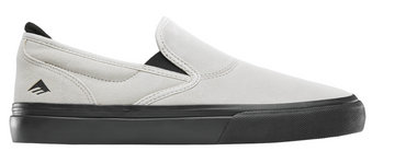 Emerica Wino G6 Slip-On Skate Shoe in White and Black