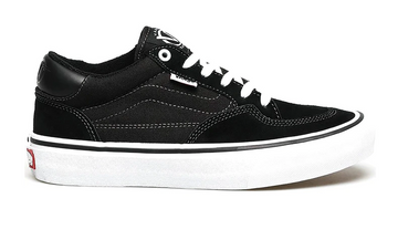 Vans Rowan Pro Skate Shoe in Black and White