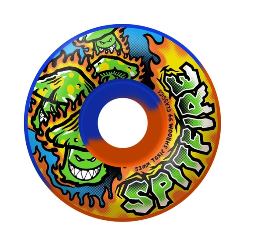Spitfire Classics Toxic Shrooms Swirl Skate Wheel 99 Durometer 53mm