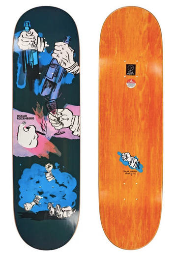 Polar Skate Co Oski Night Bender Deck in P8 Shape