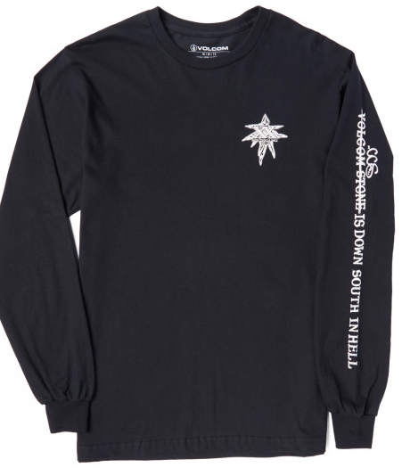 Volcom Grant Taylor Down South Tee Long Sleeve Tee in Black