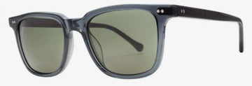 Electric Birch Sunglass in Gloss Smoke and Grey Polarized Lens