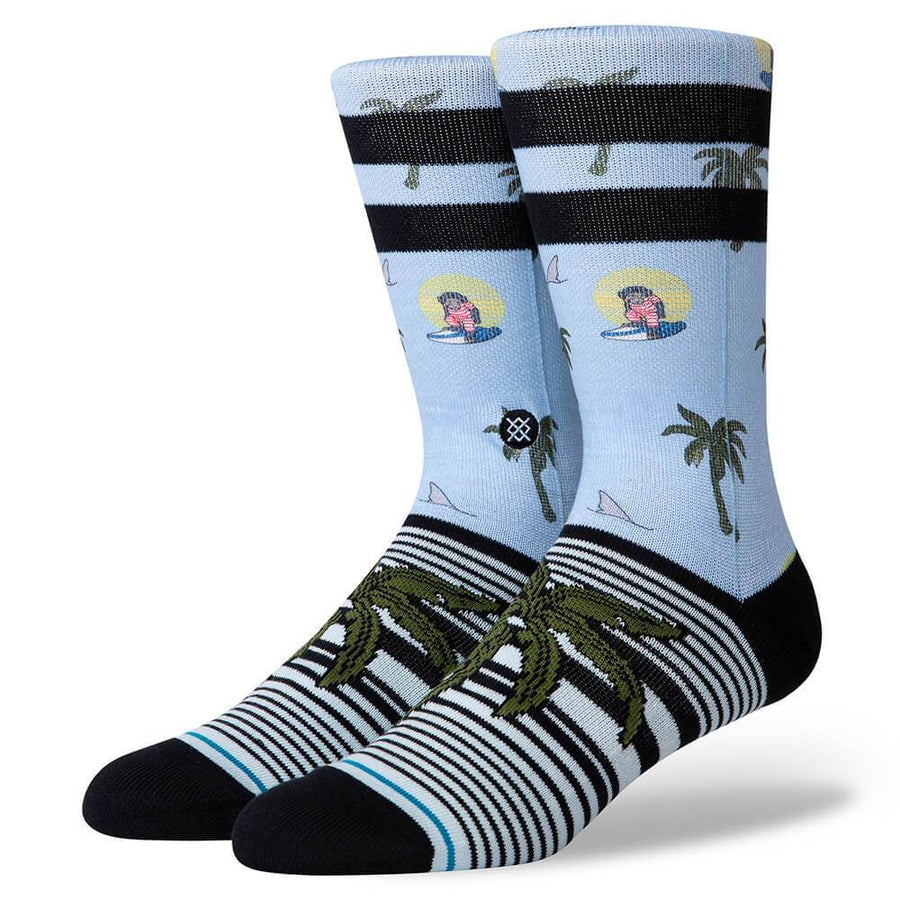 Stance Aloha Monkey ST Sock in Light Blue