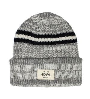 2021 Howl Stripe Beanie in Chocolate