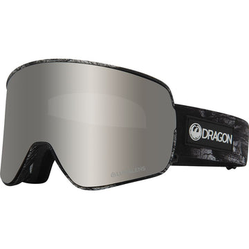 2020 Dragon NFX2 Snow Goggles in Torn Birch with LL Silver Ion and Flash Blue Lens