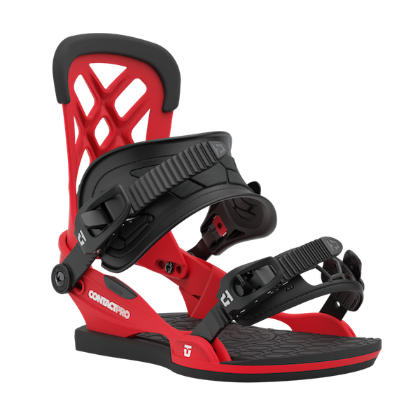 2021 Union Contact Pro Mens Snowboard Binding in Red
