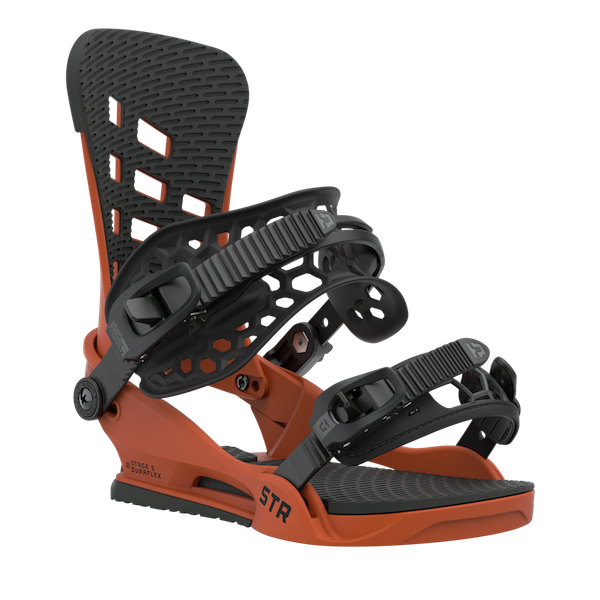 2021 Union STR Mens Snowboard Binding in Burnt Orange