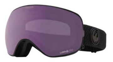 2021 Dragon X2s Split Snow Goggle with a Lumalens Violet Lens and a Lumalens Purple Ion Bonus Lens