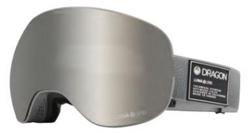 2021 Dragon X2 Titanium Snow Goggle with a Lumalens Silver Ion Lens and a Lumalens Dark Smoke Bonus Lens