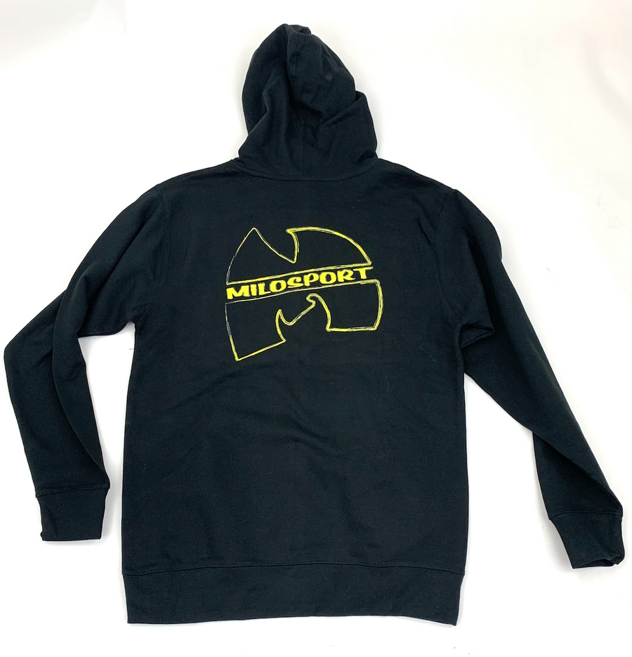 Milosport Wu Scribble Hooded Sweatshirt in Black