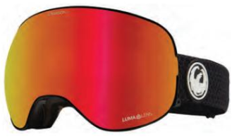 2021 Dragon X2 Split Snow Goggle with a Lumalens Red Ion Lens and a Lumalens Light Rose Bonus Lens